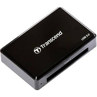 External memory card reader USB 3.0 Transcend RDF2 Black