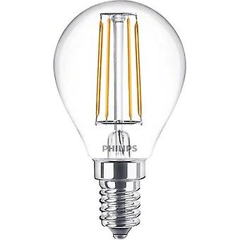 Philips Lighting LED EEC A++ (A++ - E) E14 Droplet 4 W = 40 W Warm white (Ø x L) 45 mm x 80 mm Filament 1 pc(s)