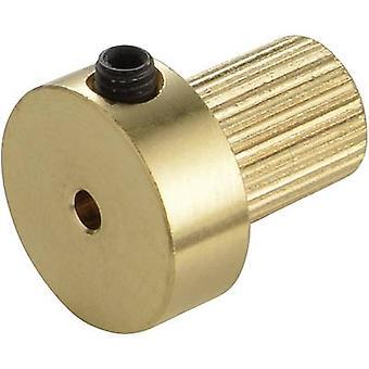 Brass Coupler insert Modelcraft Bore diameter: 4.2 mm (Ø x L) 13 mm x 15 mm