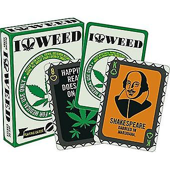 I Love Weed Set Of 52 Playing Cards (+ Jokers)