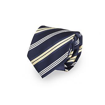 Tie tie tie tie 8cm blue yellow white striped - Fabio Farini