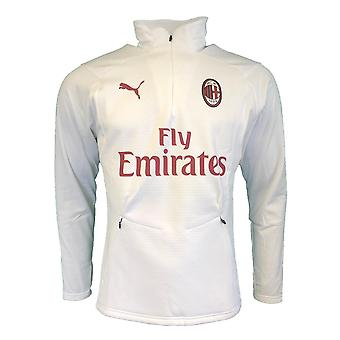 2018-2019 AC Milan Puma Training Fleece (White)