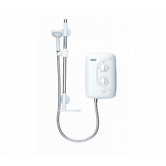 Galaxy Aqua 3000m 8.5kw White And Chrome Electric Shower