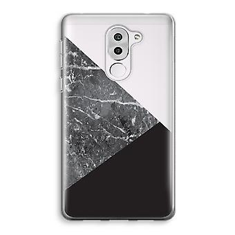 Honor 6X Transparent Case (Soft) - Marble combination