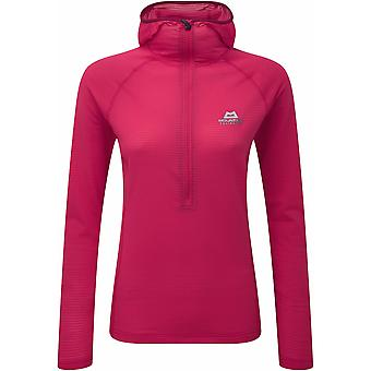 Mountain Equipment Womens Solar Eclipse Hooded Zip Tee with Mesh Back
