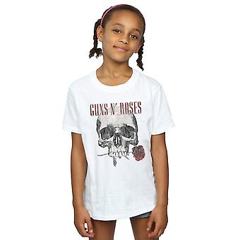 Guns N Roses Girls Flower Skull T-Shirt
