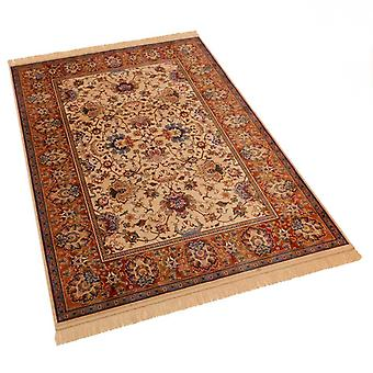 Indian Agra Design Artificial Faux Silk Effect Antislip Rugs 4620/4 140 x 200cm