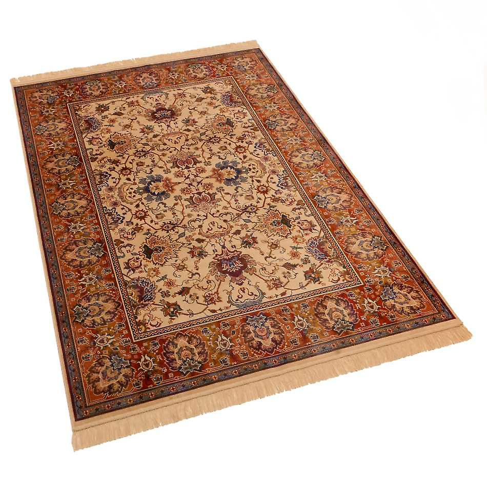 Indian Agra Design Artificial Faux Silk Effect Antislip Rugs 4620/4 140 x 200cm