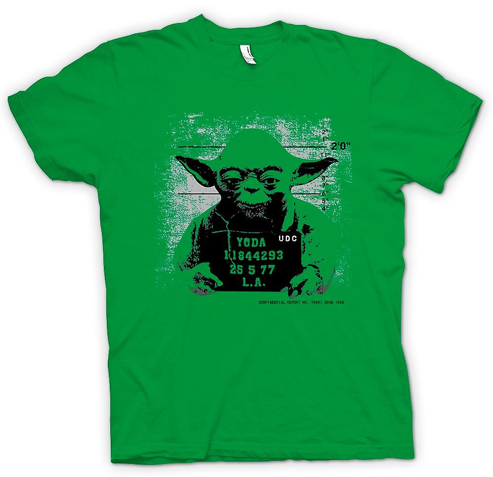 Herren T-Shirt - Yoda Verbrecherfoto - Star Wars - Lustiges