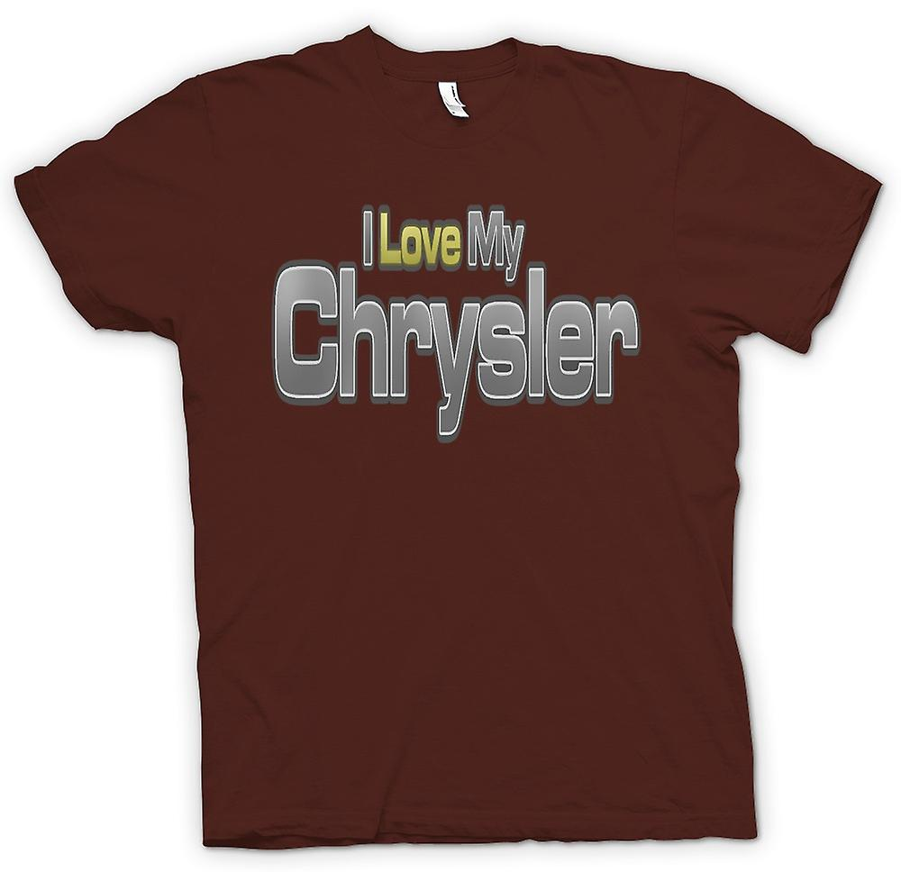 Mens T-shirt - I Love My Chrysler - Car Enthusiast