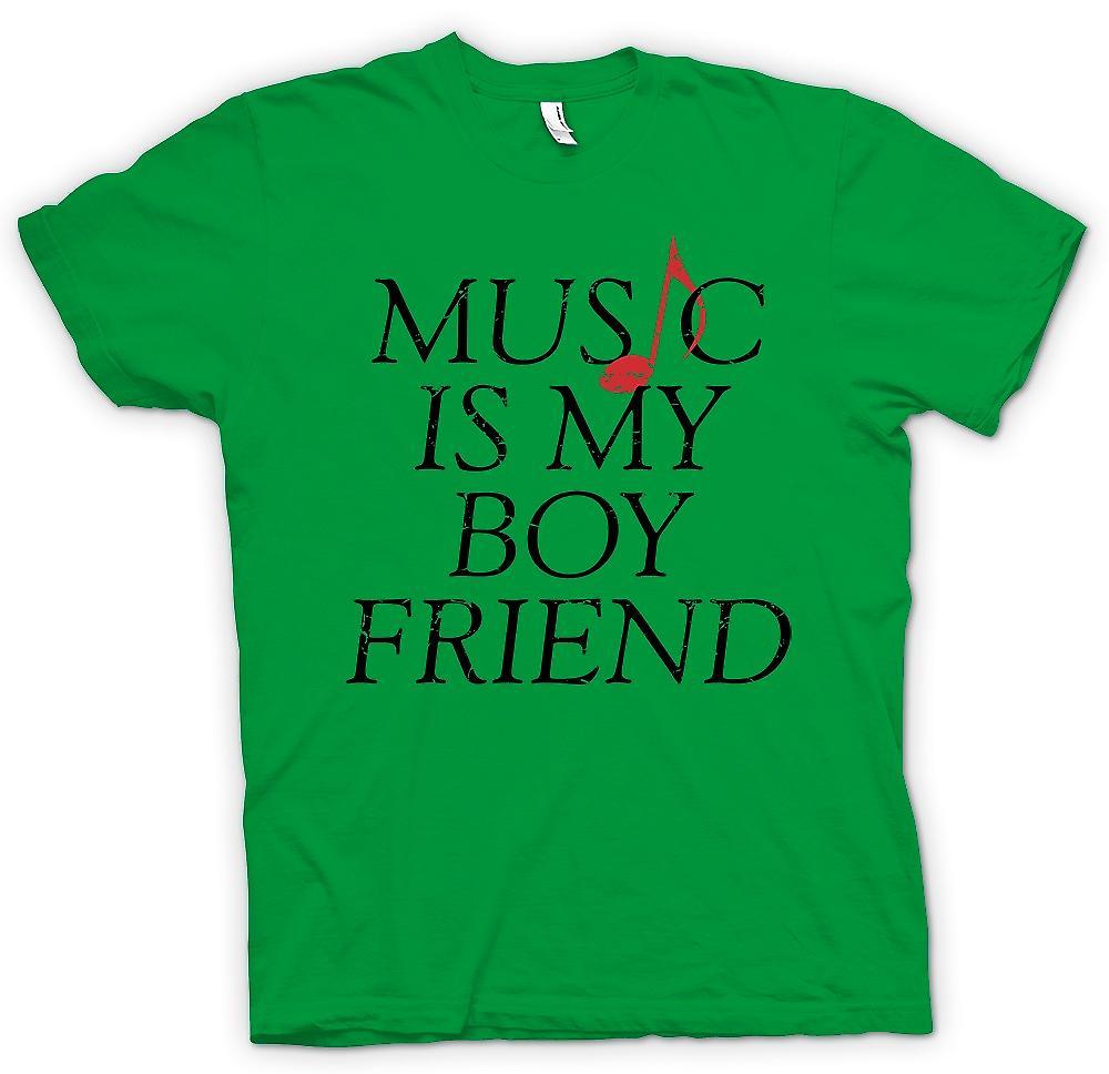 Mens T-shirt-la musique est mon copain