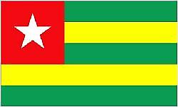 Togo/Togolese Flag 5ft x 3ft (100%poly) With Eyelets