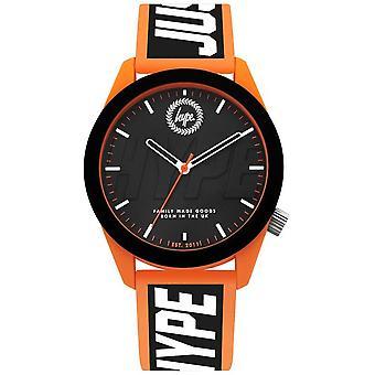 Hype   Mens   Orange And Black Silicone Strap   HYG018BO Watch
