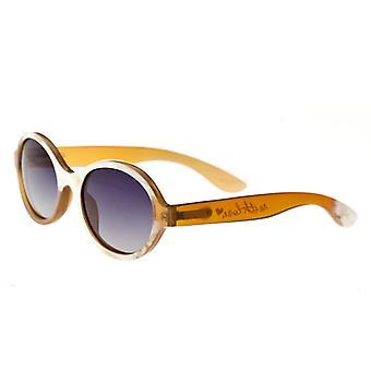 Bertha Laurel Buffalo-Horn Polarized Sunglasses - Honey/Black