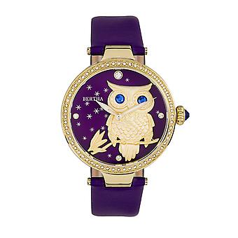 Bertha Rosie lederen-Band Watch - goud/paars