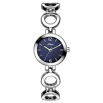 S. Oliver SO-3015-MQ wristwatch, alloy, silver band