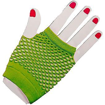 手袋肘網タイツ緑