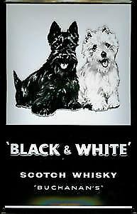 Black & White Whisky (Buchanans) embossed steel sign