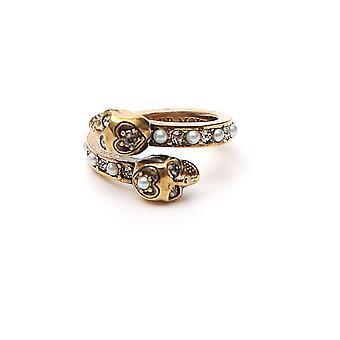 Alexander Mcqueen Gold Brass Ring