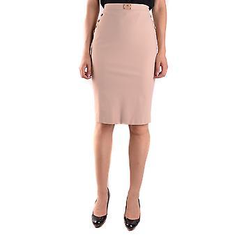 Elisabetta Franchi Beige Nylon Skirt