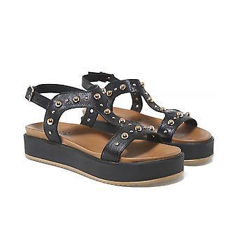 Т-образного шарнира Inuovo кожа шипованных сандалии