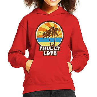 Phuket Love Retro Kid's Hooded Sweatshirt