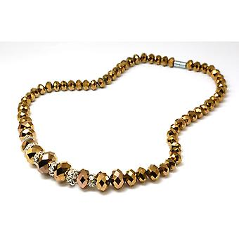 The Olivia Collection Brown Faceted Graduating Glass Bead 18