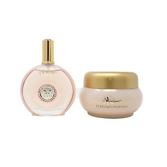 Micallef Rose Aoud Perfume & Body Powder 2-Piece Gift Set New In Box