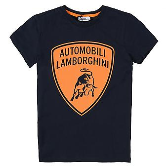 Lamborghini Kids Automobili Lamborghini T-skjorte, Navy