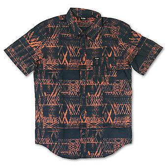 Lrg Sepik Short Sleeve Woven Shirt Navy