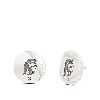Universiteit van Zuid-Californië-Trojan oorbellen in Sterling Zilver