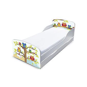 PriceRightHome Eulen Kleinkind Bett mit Unterbett Lagerung