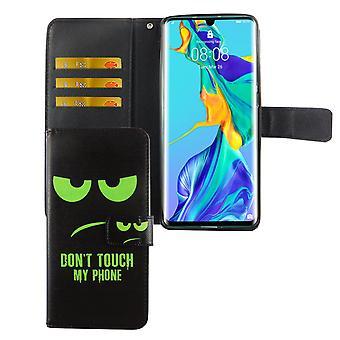 Huawei P30 Pro funda de la funda del teléfono cubierta con el compartimiento de la tarjeta No toque mi teléfono
