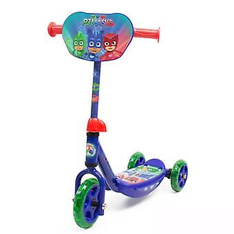 PJ Masks Kids Three Wheel Tri Scooter with Adjustable Handlebar and Front Plate