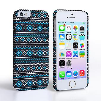 Caseflex iPhone 5and5S Fairisle Case – Grey with Blue Background