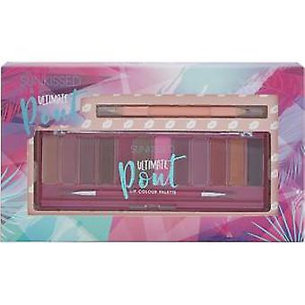 Sunkissed Ultimate Pout Lip Palette Gift Set 1g Double Ended Lip Liner + 12 x 1.7g Lipsticks + Brush