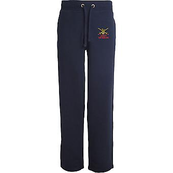 British Army Swords - Veteran - Licensed British Army Embroidered Open Hem Sweatpants / Jogging Bottoms