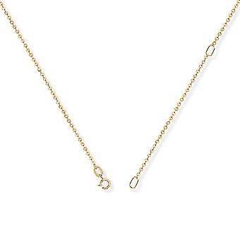 Jewelco London 9ct Yellow Gold - Convertible Fine Trace to Pendant Chain Necklace - 1.2mm gauge