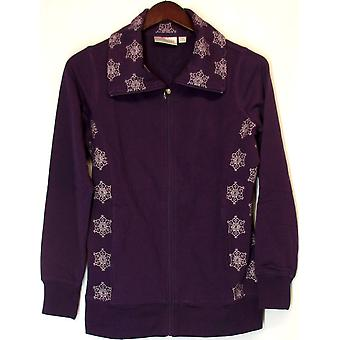 Sport Savvy French Terry Jacket w/ Snowflake Print Rich Purple A92622