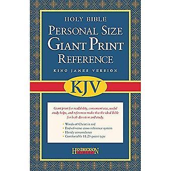 KJV Personal Size Giant Print Reference Bible: King James Version, Black Bonded Leather