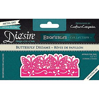 Die'sire Edge'ables Cutting & Embossing Die-Butterfly Dreams DEDGE-BUT
