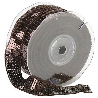 Square Sequin Trim 22Mm X 15.95 Yards Dark Brown 9801 22 61