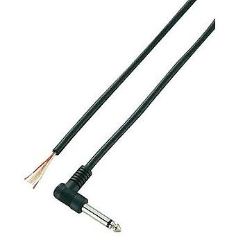 6.35 mm audio jack Plug, right angle Number of pins: 2 Mono Black VOLTCRAFT XL-AC63SW 1 pc(s)