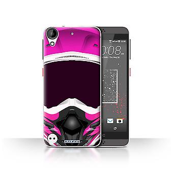 STUFF4 Case/Cover for HTC Desire 630/Motocross/Pink/Motorcycle Helmet