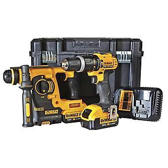 DeWALT DCK206M2T 18V XR 2 pezzi TSTAK Kit 2 x 4.0 ah batterie