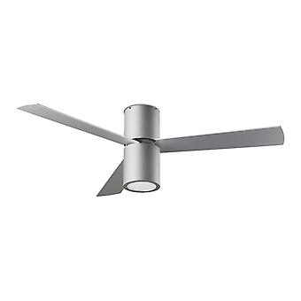LEDS-C4 design ceiling fan Formenta Grey with included light, 132 cm / 52