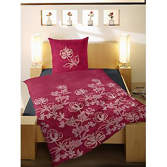 TAP precious flannel bedding flowers red 200 x 200 cm