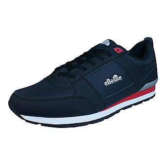 Ellesse Fabbiano D Runner Mens Lace Up Trainers / Shoes - Black