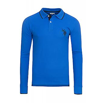 U.S. POLO ASSN. Shirt Sweatshirt mens Polo long sleeve shirt blue 197 42608 51887 173