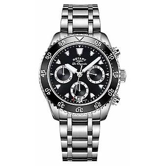 Rotary Mens Les Originales Stainless Steel Black Dial GB90170/04 Watch